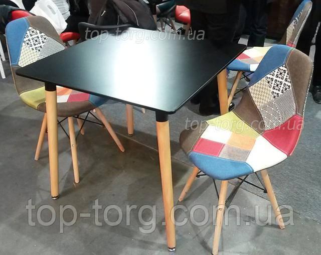 Стол DT-9017 NOLAN II стулья DS-922 разноцветные