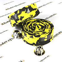 Обмотка руля для велосипеда (желто-черная)