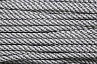 Шнур 7мм спираль (100м) св.серый+белый