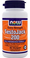 Тесто Джек, Now Foods, TestoJack 200, 60 vcaps