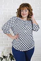 """Жіноча блуза великого розміру """"Калу"""" 48-58р., фото 1"""