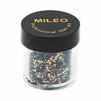 Блестки MILEO для дизайна ногтей
