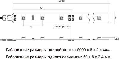 Светодиодная лента 3528 60 диодов\метр (SMD 3528B 60 LED 12 V) Герметичная Синяя IP65, фото 3