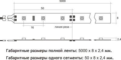 Светодиодная лента 3528 60 диодов\метр (SMD 3528R 60 LED 12 V) Герметичная Красная IP65, фото 3
