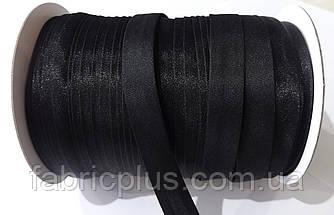 Косая бейка атласная 15 мм (000) черная