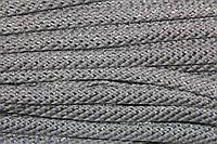 Шнур плоский 15мм (100м) белый + серебро