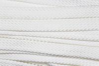 Шнур плоский 15мм Белый 4*64 (100м)