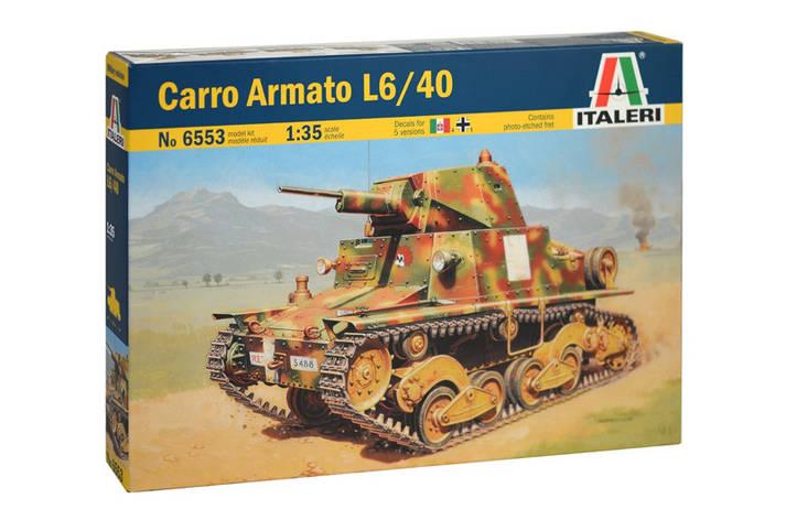 CARRO ARMATO L6/40. 1/35 ITALERI 6553, фото 2