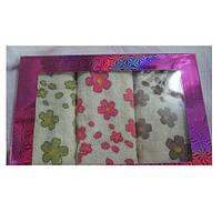 Подарочный набор махровых полотенец для рук Цветы