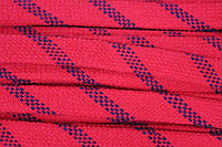 Шнур плоский 15мм акрил (50м) красный+т.синий