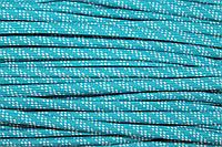 Шнур плоский 7мм (100м) мор.волна+белый