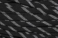 Шнур плоский 15мм акрил (50м) черный+белый