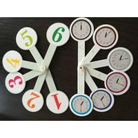 Веер  цифры и часы