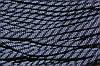 Шнур плоский 7мм (100м) т.синий+белый