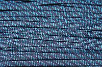 Шнур плоский 7мм (100м) т.синий+бирюза