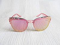 Модные очки реплика Диор розовые зеркальные