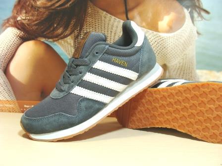 Кроссовки женские Adidas Haven (реплика) серые 38 р.