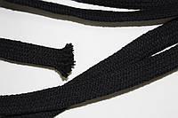Шнур плоский ХБ 18мм (50м) черный