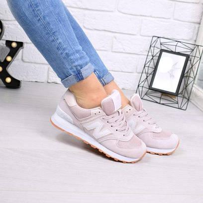 Кроссовки женские New Balance лиловая пудра 4417, спортивная обувь