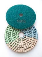 """Гибкие полировальные круги """"3-цвета"""", алмазные липучки, """"Черепашки"""" для полировки гранита d100mm №1000"""