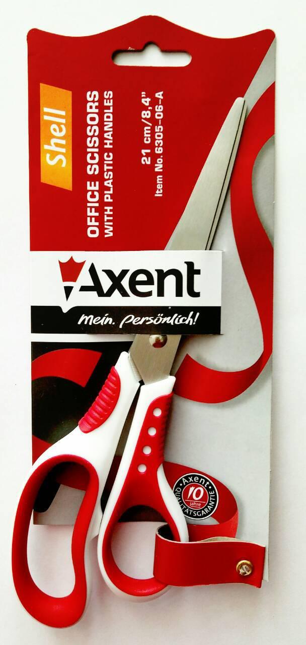 Ножницы с прорезин.ручк. Axent 21 cм /6305/