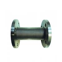 Компенсатор осевой линейного расширения сильфонный фланцевый с внутренним стаканом (IS) L60/ нерж.сталь/ сталь