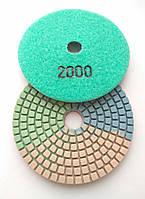 """Гибкие полировальные круги """"3-цвета"""", алмазные липучки, """"Черепашки"""" для полировки гранита d100mm №2000"""