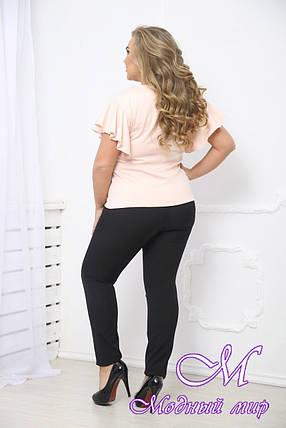 Женская светлая летняя блуза большие размеры (р. 48-90) арт. Мотылек, фото 2