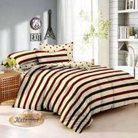 Евро Комплект постельного белья ТМ KRIS-POL (Украина) сатин хлопок 100%