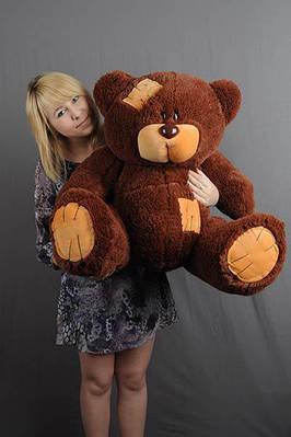 """Плюшевый мишка """"Тедди"""", шоколадный, 100 см."""