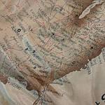 Шелк подкладочный , сток , Европа .Карта Америки. шир 140, фото 3