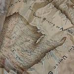 Шелк подкладочный , сток , Европа .Карта Америки. шир 140, фото 2