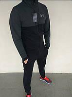 Спортивный костюм мужской черный с серым Under Armour