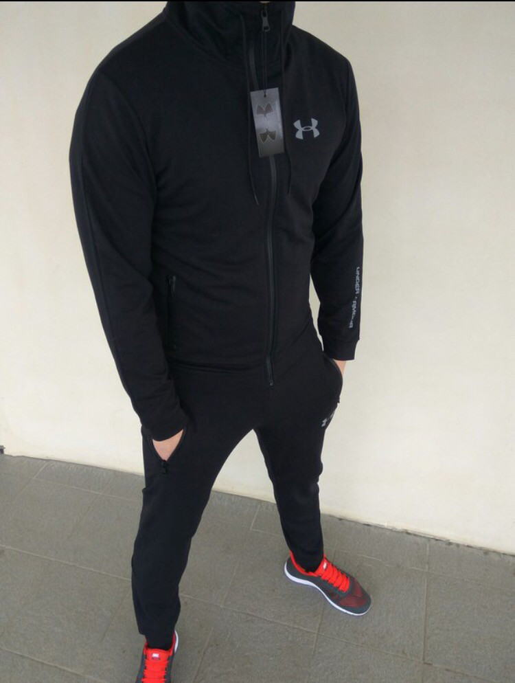 a0a8fc06 Спортивный костюм мужской черный Under Armour - Магазин zakazal.com.ua в  Харькове