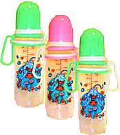 Бутылочка пластиковая с подвижными ручками 250 мл, арт. 072