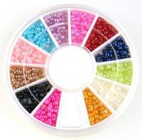 Разноцветный жемчуг для дизайна ногтей
