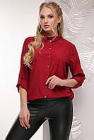 Яркая женская блуза Ариадна бордовый (52-56)