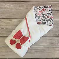 """Стильный весенний флисовыйконверт-одеяло """"Мамина Зайка"""" (подклад хлопок), фото 1"""