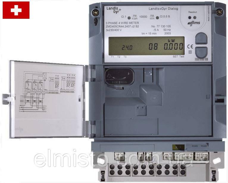 Электросчетчик LANDIS & GYR ZMD405CR44.0007.c2 (E650) 58-477В  5(10)А кл.т. 0,5S (Швейцария)