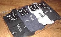 """Мужские носки х/б,спорт""""adidas 4"""",Турция,42-45,упаковка 12 пар"""