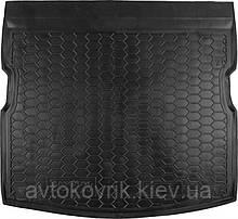 Пластиковый коврик в багажник SsangYong Kyron 2005- (без органайзера) (AVTO-GUMM)