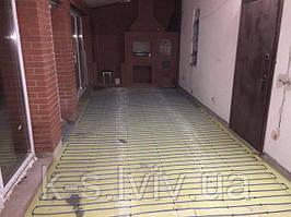 Тепла підлога в стяжку, під плитку (закрита веранда), як основний обігрів - Львів.