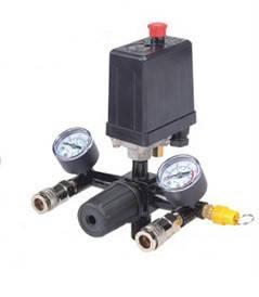 Прессостат в сборе (прессостат, редуктор, 2 манометра, предохранительный клапан, два выхода) Profline 20E