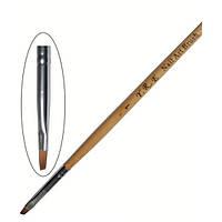YRE Кисть для рисования Nail Art Brush (дерево) - 01 (малая скошенная, плоская)