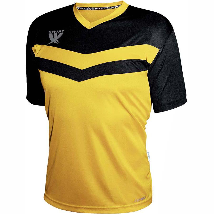 Футболка футбольная Swift Romb CoolTech (желто-черная)
