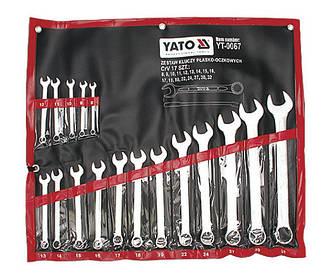 Набор ключей комбинированных 17 шт., 8-32 мм YT-0067
