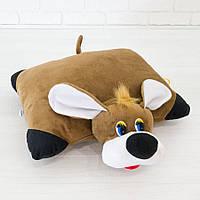 Мягкая игрушка Подушка трансформер собачка 37см (245)