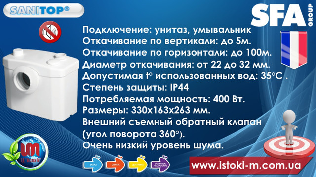 характеристики_купить sfa sanitop