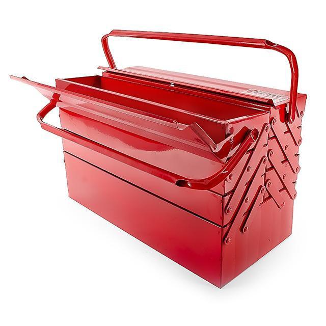 Ящик для инструментов металлический 450 мм, 7 секций INTERTOOL HT-5047 - Интернет-магазин «ProMax» г. Днепр  в Днепре