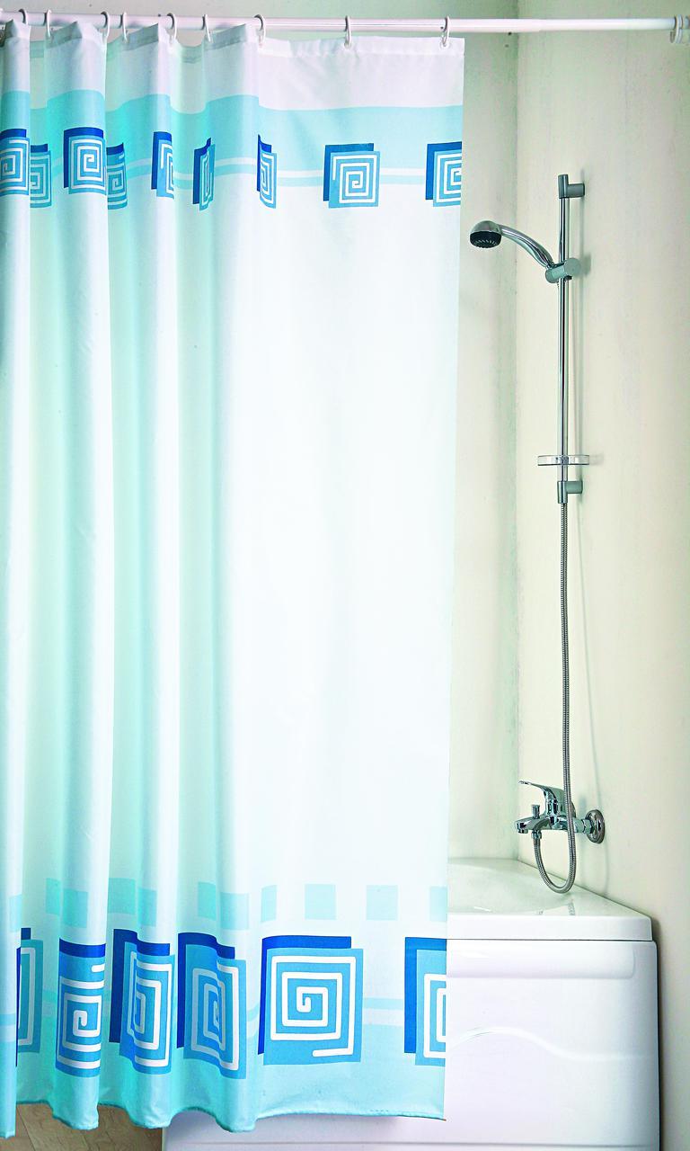 "Штора в ванную текстиль 180 x 200 см ""Лабиринт"""